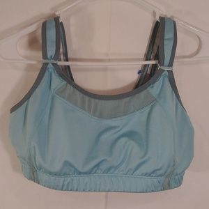 New balance blue gray sports bra